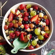 Leave refined sugar in the pantry, and dress this colorful fruit salad with naturally sweet honey. Combined with orange juice and fresh mint, the sticky ingredient makes your favorite fruits even tastier. Healthy Snack: Honey is sweeter than sugar, so less is needed in snack recipes.