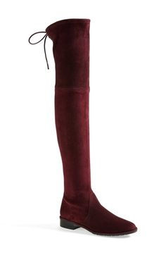 Free shipping and returns on Stuart Weitzman 'Lowland' Over the Knee Boot (Women) at Nordstrom.com. Soft, supple suede is shaped into a showstopping over-the-knee boot with a low stacked heel and a dare-anything vibe. Stuart Weitzman shoes are favorites among editors, stylists and celebrities – and it's no wonder. Each Stuart Weitzman shoe is crafted in Spain with a keen attention to detail and made to feel as great as it looks.