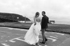 Jamie + Olli's Palm Beach Wedding I The Blake/Karly gown & Maggie overlay I Photographer - Sophie Thompson I Follow us @kwhbridal