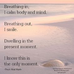 Thich Nhat Hanh Breathing in.. | Quotes for Spiritually minded people