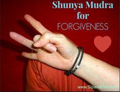 Do this mudra for forgiveness. One of the hardest things to do is to forgive others -- or even yourself. Receive Free guided meditations at www.SipandOm.com.