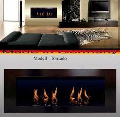 Bio Etanolo Caminetto Modell Tornado (nero)