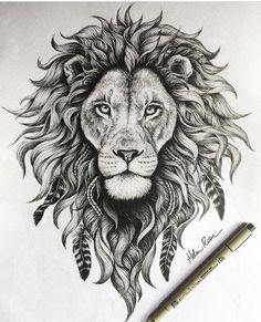 detail on this lion illustration is insane! - The detail on this lion illustration is insane! -The detail on this lion illustration is insane! - The detail on this lion illustration is insane! Leo Lion Tattoos, Animal Tattoos, Body Art Tattoos, Sleeve Tattoos, Lion Thigh Tattoo, Mandala Lion Tattoo, Lion Back Tattoo, Tatoos, Tattoos Of Lions
