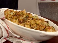 Roasted Chestnut Sausage Dressing recipe from Tyler Florence