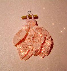 Miniature Tiny Pink Tooth Fairy Dress
