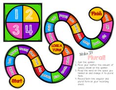 """Classroom Freebies: """"Make It Plural!"""" {A board game for practicing singular and plural nouns}"""