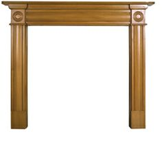 Derry Fireplace Surround Pine      Solid Pine     Available in Waxed or Unwaxed finish     (waxed version shown)     Suitable for all our cast iron insets Online Sale Price: £235.00 r.r.p: £253 saving: £48