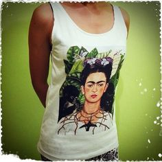 Frida Kahlo Colorful - Artist Painter Woman Tank Top Crop Vest Tshirt T Shirt Tees on Etsy, $14.99