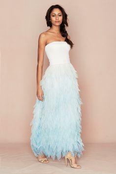 Calypso St. Barth Bridal - Janli Strapless Petal Dress
