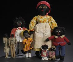 Image detail for -Eight Early 20th Century African American Folk Art Clothed Dolls ...