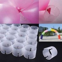 Wish | yueton Pack of 50 Decorative Decor Balloon Rings Balloon Arch Folder Convenient Clip Multiple Accessories (Balloon Clip only ,others not included)