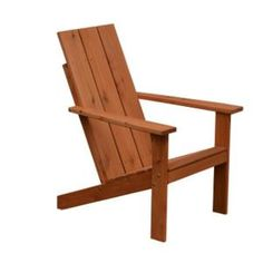 Western Red Cedar Modern Adirondack Chair by A & L Furniture Cedar Stain, Red Cedar Wood, Western Red Cedar, Adirondack Chair Cushions, Outdoor Chairs, Outdoor Decor, Stain Colors, Patio Design