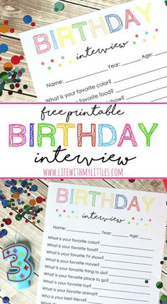 Free Birthday Interview Printable is part of Birthday crafts For Kids - This free birthday interview printable is such a great birthday tradition for kids! It will be fun to see how the answers change every year! Birthday Surprise Kids, Birthday Morning Surprise, Third Birthday, Birthday Bash, Birthday Celebration, Free Birthday, Birthday Party Themes, Happy Birthday, Birthday Ideas For Kids