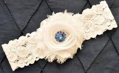 White Wedding Garter White Bridal Garter  by somethingnewdesigns
