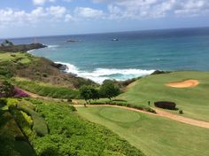 14th hole at Kauai Lagoons. Great golf course.