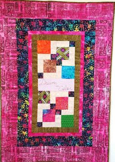 Dream in Color 38 x 56 inch art quilt by OVBrantleyQuilts on Etsy