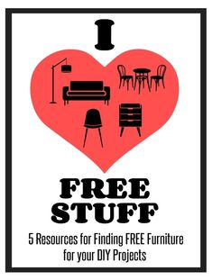 5 Resources for Finding Free Furniture for Your DIY Projects Diy Furniture Renovation, Stuff For Free, Trash To Treasure, Love Is Free, Tool Storage, Project Yourself, Upcycled Furniture, Reuse, Diy Projects
