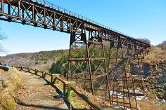 Upper Falls Trestle Bridge w/ no trees blocking the view.