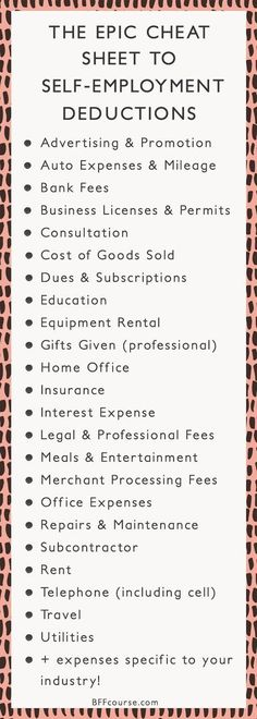 Tax Deductions Write Offs Self Employed Entrepreneur Creative Entrepreneur talk entrepreneur tips - career advice - small business - business tips - business strategy Business Planning, Business Tips, Online Business, Business Motivation, Business Opportunities, Etsy Business, Business Management, Money Management, Home Business Ideas