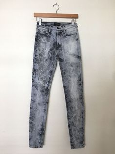 BLACK ORCHID Giselle High Rise Super Skinny Denim Jeans Acid Grey 26 $180 #BlackOrchid #SlimSkinny