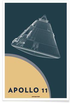 Apollo 11 Landing Module 5 als Premium Poster Apollo Space Program, Nasa Space Program, Apollo 11 Landing, Black Hole Theory, Nasa Spacex, Space Artwork, Propaganda Art, Nasa Images, Alien Art