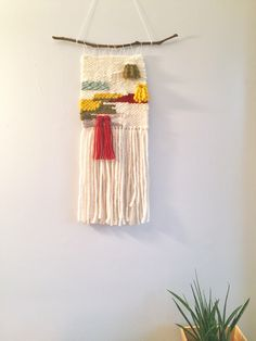 Ready To Ship Woven Wall Hanging Decor Fiber Art