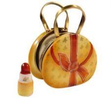 darling purse w/removable lipstick