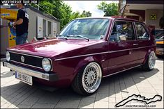 Purple Mk1 VW Golf on BBS Split Rim Wheels | Flickr - Photo Sharing!