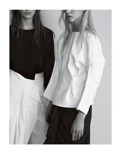 Minimalist | Black and White | Structured Tailoring | HarperandHarley