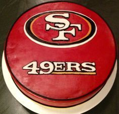 San Francisco 49Ers Cakes, Hockey Puck, Cakes Party, 49Ers Grooms Cakes, 49Ers Cupcake, Cakes Idea, Sf 49Ers Cakes, 49Ers Football, Forty Niners