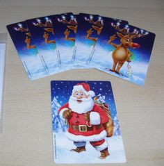 """Razamatazz Magic's """"WHERE'S SANTA"""" magic card trick from walk around - ideal fro Children's entertainers at Christmas http://www.razamatazzmagic.com/magicshop_001/products.php?Product=190&Title=Where%27s_Santa"""