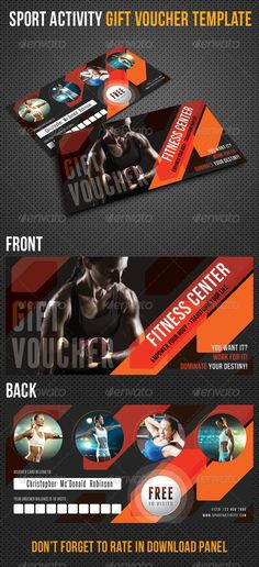 Sport Activity Gift Voucher V26 - Cards & Invites Print Templates