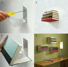 Trend Invisible Shelves Invisible Shelves - This Trend Invisible Shelves ideas was upload on November, 21 2019 by Elmer Emmerich. Here latest Invisible Shelves ideas collecti. Creative Bookshelves, Floating Bookshelves, Book Shelves, Bookshelf Diy, Book Storage, Easy Shelves, Invisible Bookshelf, Ideas Para Organizar, Cool Diy