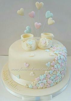 Baby shower cake – # baby cake - New Sites Torta Baby Shower, Tortas Baby Shower Niña, Baby Shower Cakes Neutral, Baby Shower Pasta, Unisex Baby Shower Cakes, Baby Birthday Cakes, Baby Cakes, Birthday Parties, Bolo Diy