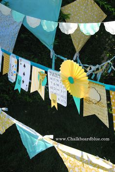 Chalkboard Blue: No. 38 Surprise Party! fun birthday banners