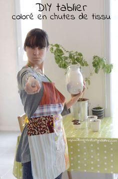 DIY – Tablier de cuisine en chutes de tissus Blog clémentine la mandarine
