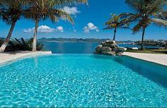 Affitto villa Terres Basses - Piscina con una vista eccezionale sull'isola