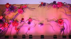 Idea for wedding stage/head-table backdrop.