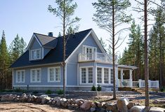 Vihervaara Kalajoella Norwegian House, Conservatory Design, Screened Porch Designs, Log Homes, House Rooms, Home Fashion, Cladding, Curb Appeal, Home Projects