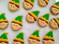 Elf cookies using an ice cream cone cutter!