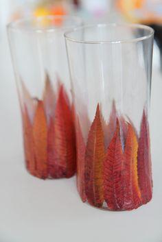 Photophore facile à faire avec des feuilles d'automne (avec tutorial diy)