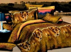 3D Prairie Wolf 100% Cotton Bedding Sets Animal Print Bedding- ericdress.com 10831807