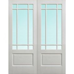 Delivery; 48 - 72 Hours and free anywhere on the UK mainland, Islands and exports by arrangement.        Our Downham White Door Pair is glazed with toughened Bevelled Clear Glass and is a white primed Semi-Solid Core (not hollow) interior french door set with an mdf veneer applied for a smooth faced finish, delivery is free within the uk mainland.  The 1168mm size is available below.    Solid White Primed Doors    LPDA WFPRSDOWCG46  Related Products    Downham White Door with Bevelled Clear…