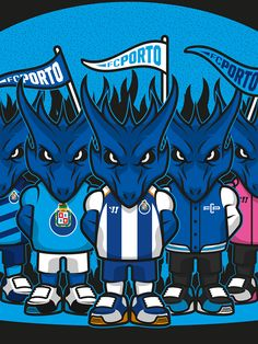 Dragons illustration for Portuguese League game FC Porto x Académica… Dragons, Fc Porto, Illustration, Joker, Game, Portuguese, Fictional Characters, Logos, Tattoos