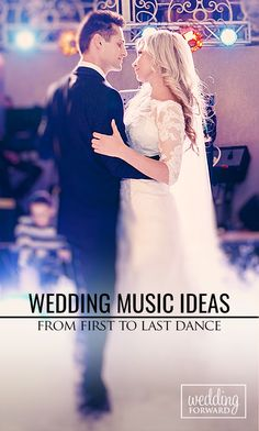 Wedding Music Ideas From First To Last Dance Wedding Music List, Wedding Reception Music, Wedding Dance Songs, Wedding Playlist, First Dance Songs, Last Dance, Wedding Dj, Floral Wedding, Wedding Ceremony