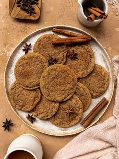 These soft & chewy Vegan Brown Sugar Chai Sugar Cookies are the BEST vegan spice cookie! These easy, eggless, & dairy-free brown sugar cookies are SO soft & made with a mix of light & dark brown sugar. With hints of cinnamon, cardamom, & ginger, these homemade cookies are the perfect Christmas/Holiday dessert even with no egg! #sgtoeats #brownsugarcookies #vegancookies Easy Vegan Cookies, Vegan Sugar Cookies, Brown Sugar Cookies, Homemade Cookies, Yummy Cookies, Roll Cookies, Spice Cookies, Vegan Dessert Recipes, Cookie Recipes