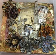 altered art canvas - Google Search