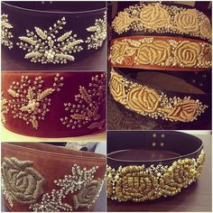 We are crushing over these leather beauties from our SS '16. What do you think ? Order yours now !#bhumikasharma#leatherbelts#ss16#pearls#goldroses#tan#black#beauties#embroidery
