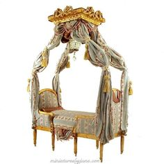 Miniature Duchesse Daybed Settee http://www.pinterest.com/rednfabulous/miniature-rooms-of-all-kinds/