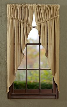 Burlap Natural Prairie Curtains Absolutely adore the style of these curtains!